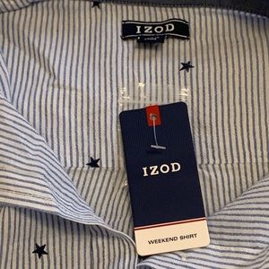 Izod Tops - IZOD Stars & Stripes Button Down Shirt. NWT